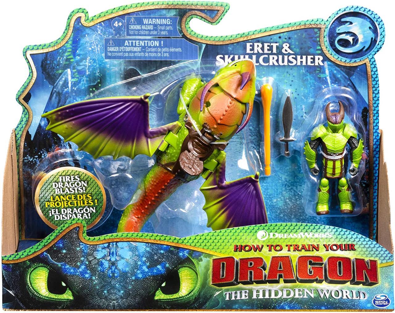 Подвижная игрушка Крушиголов и Эрет (Eret & Skullcrusher) из мультфильма Как приручить дракона Spin Master