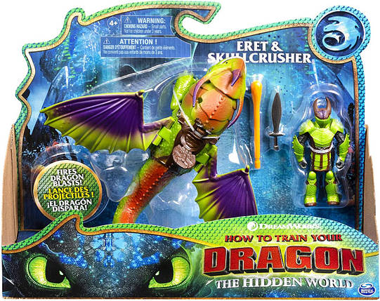 Подвижная игрушка Крушиголов и Эрет (Eret & Skullcrusher) из мультфильма Как приручить дракона Spin Master, фото 2