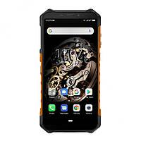 Смартфон ударопрочный красный с большим емким аккумулятором на 2 симки UleFone Armor X5 orange 3/32 гб NFC