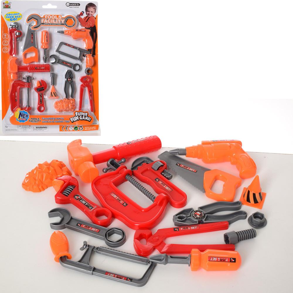 Набор инструментов 36778-49 (72шт) дрель,молоток, пила,ключи,отвертка,плоскогубцы,на листе,30-41-4см