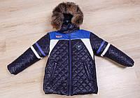 Детская зимняя  куртка  для мальчика Монклер, зима новинки