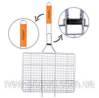 Решетка для гриля 36*27*2,5 см с деревянной ручкой Скаут™ KM-0703
