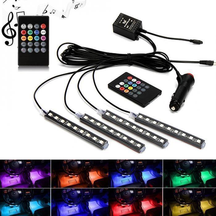 Цветная подсветка для авто водонепроницаемая RGB led HR-01678 | Подсветка ковриков в авто