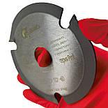 Трьох зубая дискова пила АКУЛА Profi на болгарку D115 d22 z3, фото 3