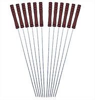 Шампуры 12 шт 38*0,25 см с деревянной ручкой Скаут™ KM-0744
