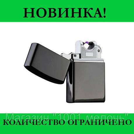 Зажигалка электроимпульсная Black USB 215, фото 2