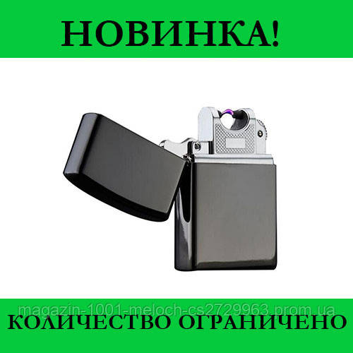 Зажигалка электроимпульсная Black USB 215
