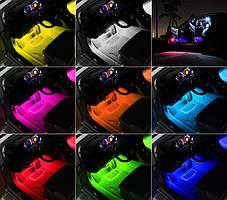 Цветная подсветка для авто водонепроницаемая RGB led HR-01678 | Подсветка ковриков в авто, фото 2