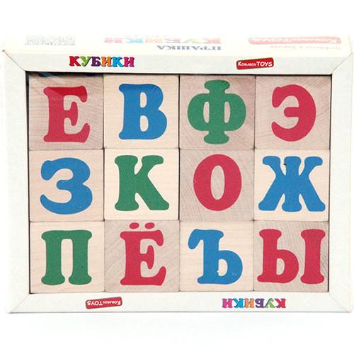 """Кубики """"Російський алфавіт"""" 12 шт, Komarovtoys"""