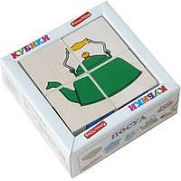 """Кубики """"Сложи рисунок: Посуда"""", Komarovtoys"""