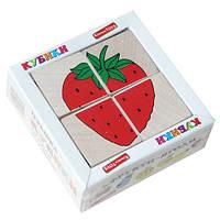 "Кубики ""Сложи рисунок: Фрукты-ягоды"", Komarovtoys"