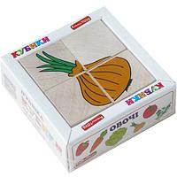 "Кубики ""Сложи рисунок: Овощи"", Komarovtoys"