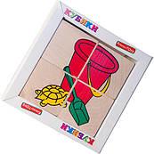 """Кубики """"Сложи рисунок: Игрушки"""", Komarovtoys"""