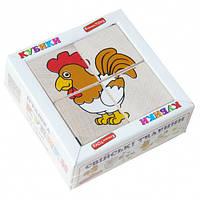 """Кубики """"Сложи рисунок: Домашние животные"""", Komarovtoys"""