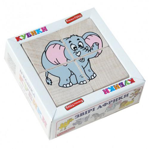 "Кубики ""Сложи рисунок: Африканские звери"", Komarovtoys"