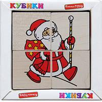 """Кубики """"Сложи рисунок: Новый год"""", Komarovtoys"""
