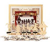 """Театр теней - набор для 4-х сказок """"Теремок"""", """"Котик и петушок"""", """"Лиса и журавль"""", """"Три поросенка"""",Komarovtoys"""