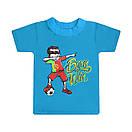 Дитяча однотонна футболка для хлопчика з принтом Born Win кулір, фото 3