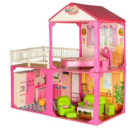KM6982B Домик   2этажа,81-82-40,5см,3комнаты,мебель,для куклы29см,в кор-ке,60-42-18см, фото 2