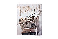 Панно холст Велосипед+корзина 35*45 см