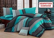 Двоспальний комплект постільної білизни - Нефритова компанія (комбо)