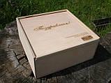 Деревянная коробка, деревянный ящик 27*27*12 см, фото 2