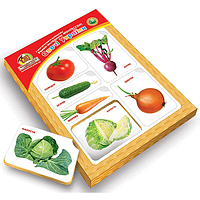 Рамки-вкладыши Монтессори с подслоем Овощи Украины, Вундеркинд