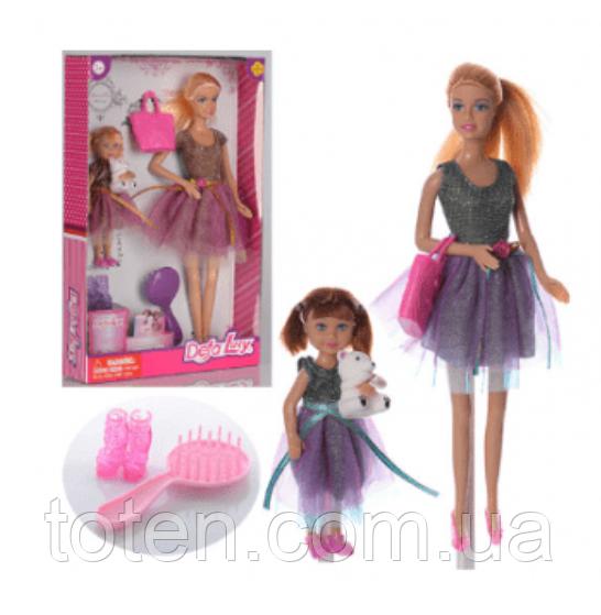 Кукла DEFA 8304 с дочкой и аксессуарами 2 вида 12