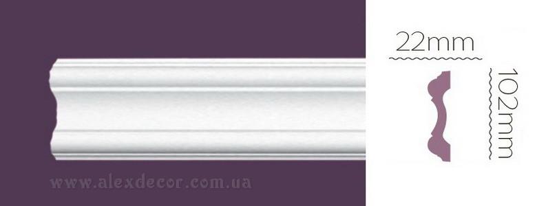 Молдинг гибкий Home Decor 1333 (102x22)мм