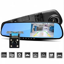 Автомобильный регистратор зеркало Blaсkbox DVR AK47 видеорегистратор с камерой заднего вида, фото 2