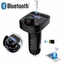 Автомобильный фм модулятор / fm трансмиттер X8, 2 usb + громкая связь, Bluetooth, фото 2