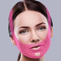 Массажная маска-бандаж для коррекции овала лица (подбородок, щеки)