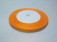 Лента атлас 6 мм, оранжевый подсолнух