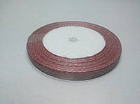 Лента атлас 6 мм, розовый винтаж