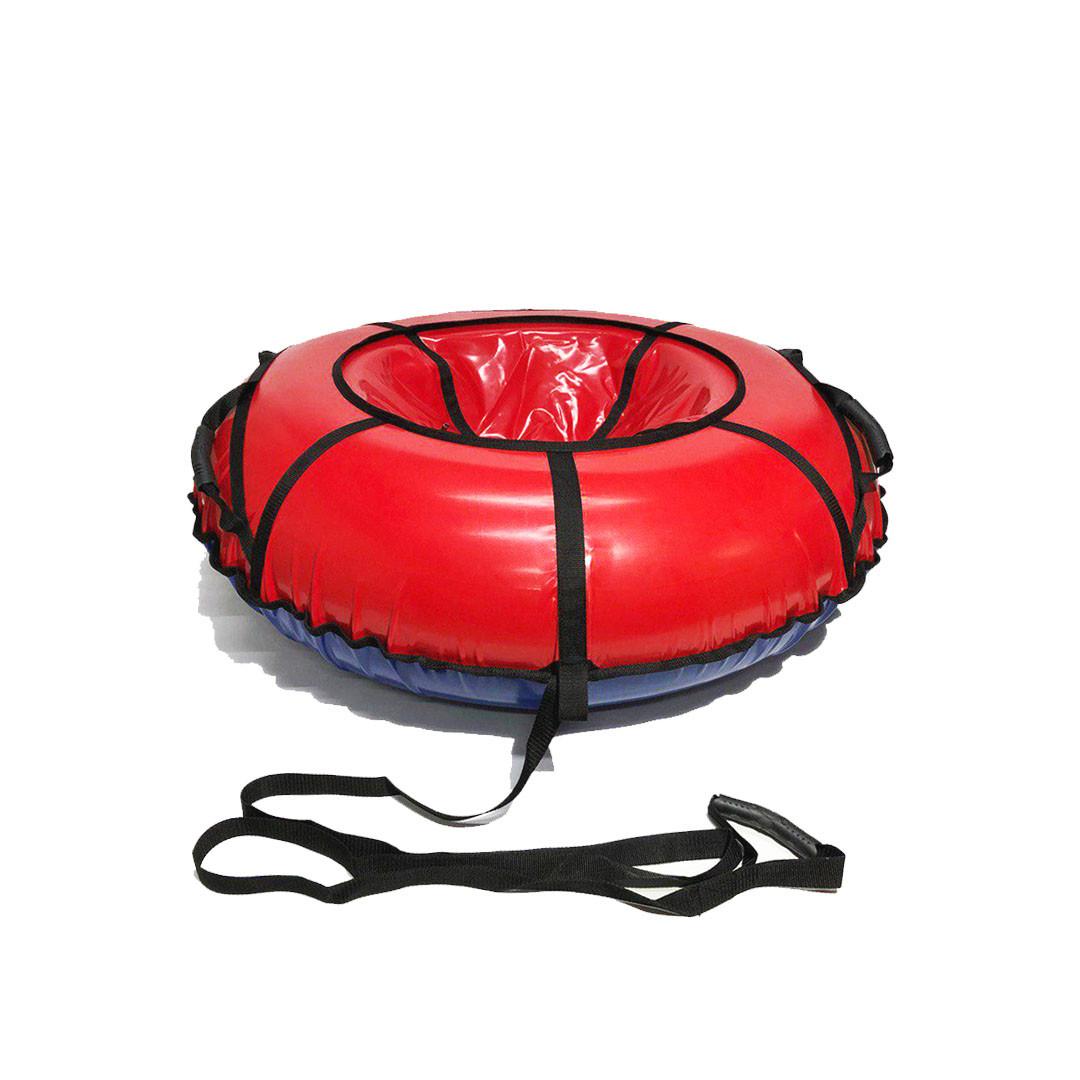 Тюбинг надувные санки ватрушка d 120 см серия Стандарт Красного цвета для детей и взрослых