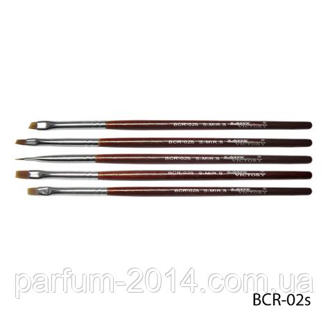 Набор кистей BCR-02S для китайской росписи (нейлон, 5 шт), фото 2