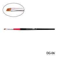 Кисть DG-06 - №6 для гелевого моделирования (нейлон)