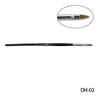 Кисть DH-02 - №2 для акрилового дизайна (нейлон)