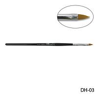 Кисть DH-03 - №3 для акрилового дизайна (нейлон)