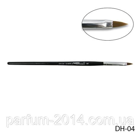 Кисть DH-04 - №4 для акрилового дизайна (нейлон), фото 2