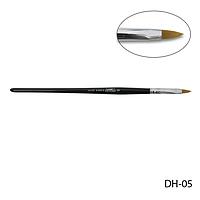 Кисть DH-05 - №5 для акрилового дизайна (нейлон)
