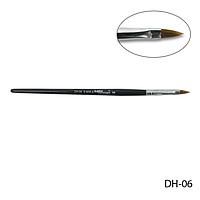 Кисть DH-06 - №6 для моделирования акрилом (нейлон)