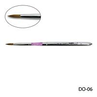 Кисть DO-06 - №6 для акрилового дизайна натуральная (соболь)