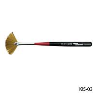 Кисть KIS-03 веерная для дизайна, большая (нейлон)