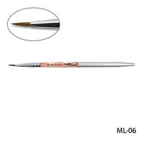 Кисть ML-06 - №2 для моделирования акрилом натуральная (соболь)