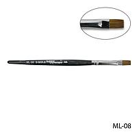 Кисть ML-08 - №6 для гелевого моделирования натуральная (соболь)