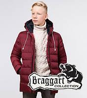 Зимняя детская куртка Braggart Kids, бордовая