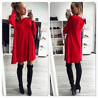 Стильное короткое платье в красном цвете