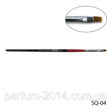 Кисть SQ-04 - №4 для гелевого моделирования (нейлон), фото 2