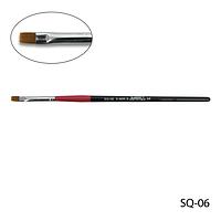 Кисть SQ-06 - №6 для гелевого моделирования (нейлон)